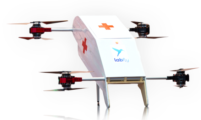 Labfly DiAvEn Delivery Drone Fast Medical Goods Schematic